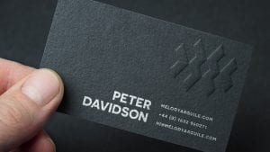 black embossing example