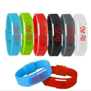 ispace printing time LED sports watch